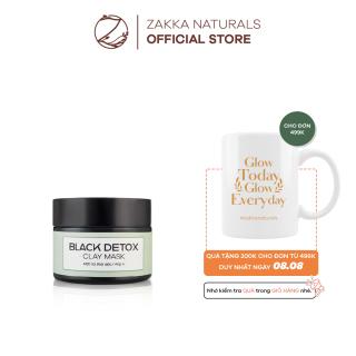 Mặt Nạ Đất Sét Than Hoạt Tính Thanh Lọc, Thải Độc Da Black Detox Clay Mask Zakka Naturals 40g thumbnail