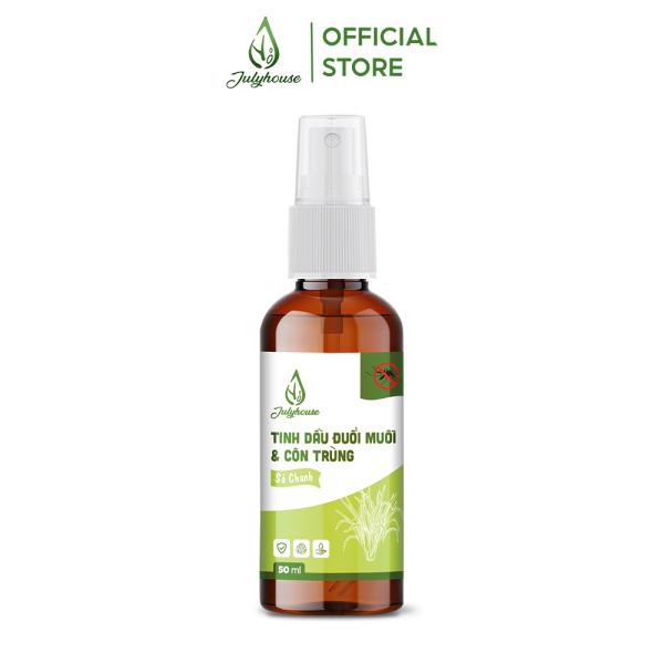 Bình xịt phòng tinh dầu khử mùi hiệu quả Sả Chanh đuổi muỗi và côn trùng an toàn 50ml JULYHOUSE