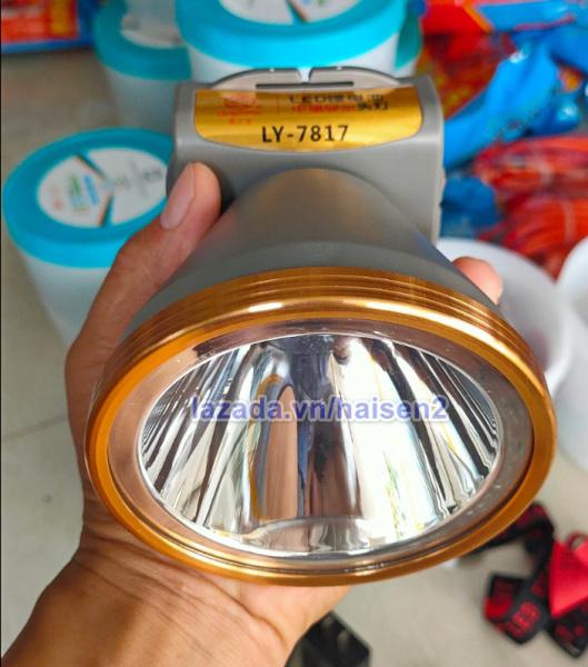 Đèn pin đội đầu cao cấp LY-7817  chiếu xa trên 500m, chóa to 105mm, pin 6000mah