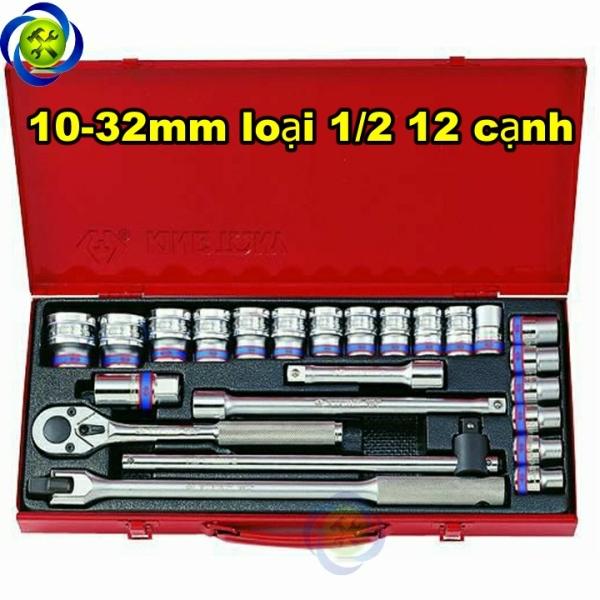 Bộ tuýp Kingtony 4026MR 10-32mm 12 cạnh gồm 24 chi tiết loại 1/2