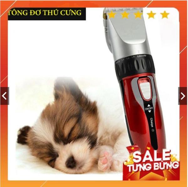 Tông đơ cắt tỉa lông cho thú cưng-Tông đơ cắt tỉa lông chó mèo JC-0817 Tặng Kèm Lược Trải Lông
