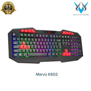 [HCM]Bàn phím game Marvo K602 led đa màu - hỗ trợ 8 phím multimedia (Đen) - Phụ Kiện 1986 thumbnail