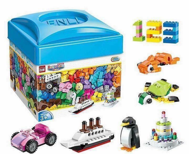 Deal Ưu Đãi Bộ Lego Hộp Vuông 460 Chi Tiết Sáng Tạo Cho Bé Yêu
