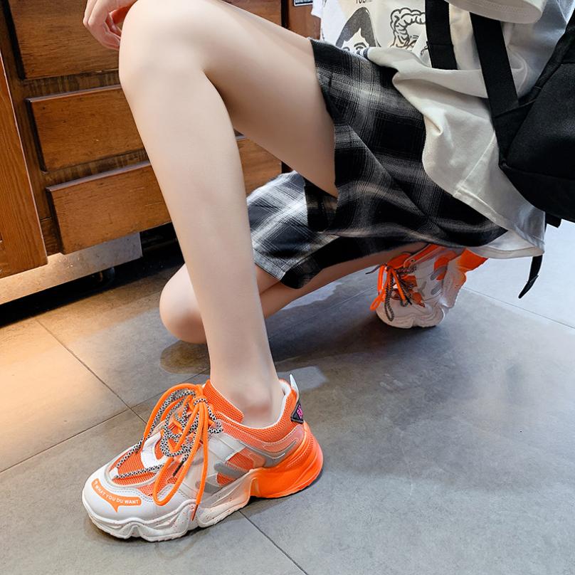 Giày Thể thao Nữ Độn đế Chấm bi, Cầu vồng Đáng yêu Giày Sneaker Nữ Mới nhất Hè 2020 ( Xanh, Hồng, Cam)[Lựa chọn của SERI ] giá rẻ