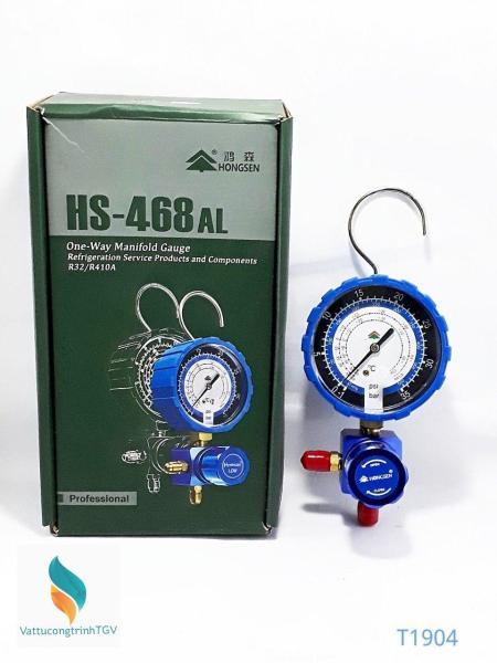 Đồng hồ đo gas đơn Hongsen HS-468AL hạ áp (R32/R410)