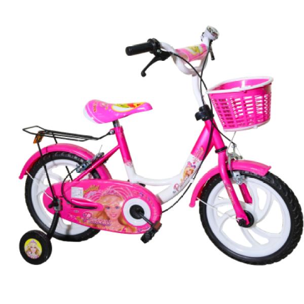 Phân phối Xe đạp trẻ em Nhựa Chợ Lớn cho bé gái từ 3-5 tuổi - Công Chúa K77 (Hồng) 12 Inch