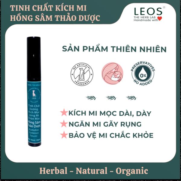 Tinh Chất Dưỡng, Kích Mọc Lông Mi và Mày Hồng Sâm Thảo Dược - HANDMADE by LEOS - The Herb Lab giá rẻ
