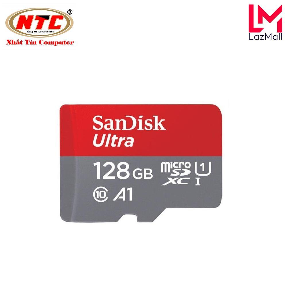 Thẻ nhớ MicroSDXC SanDisk Ultra A1 128GB Class 10 U1 100MB/s - box Hoa (Đỏ)