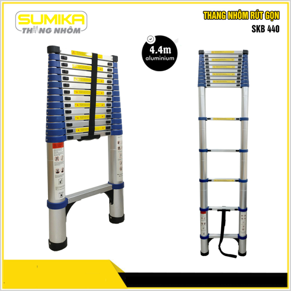 Thang rút nhôm đơn Sumika SKB 440 (Màu xanh)