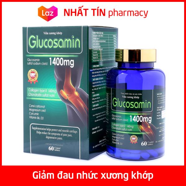 Viên xương khớp Glucosamin 1400mg Giảm đau nhức mỏi xương khớp hiệu quả - Hộp 60 viên - NHẤT TÍN PHARMACY giá rẻ