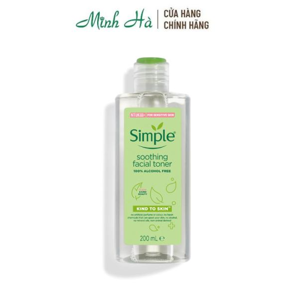 Nước hoa hồng cho da nhạy cảm Simple Kind to Skin Soothing Facial Toner 200ml cao cấp