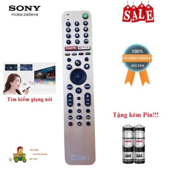 Bảng giá Remote Điều khiển tivi Sony giọng nói RMF-TX600U- Hàng mới logo Sony mạ bạc BH 6 tháng Tặng kèm Pin!!!