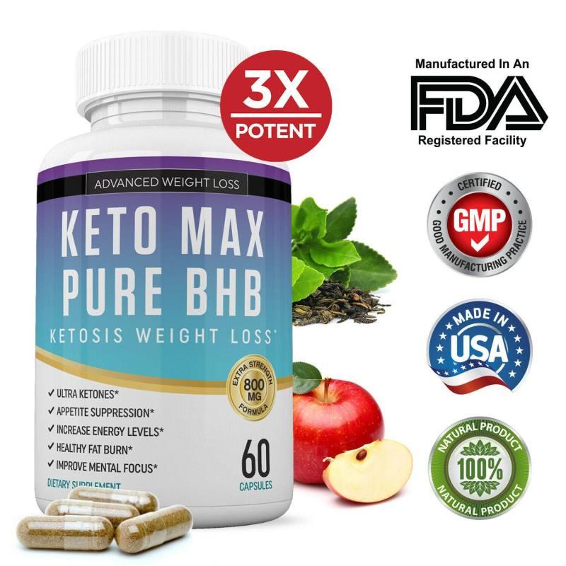 Viên uống KETO MAX PURE BHB hỗ trợ giảm cân hiệu quả cao cấp