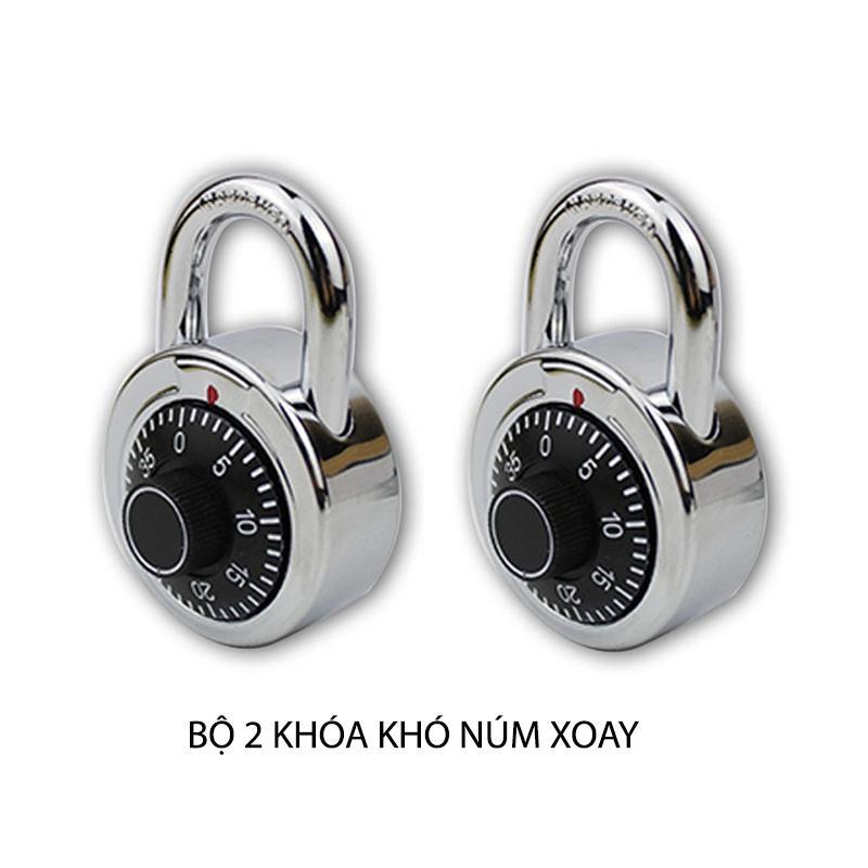 Bộ 2 khóa số dạng núm xoay cho vali, hòm, cửa nhà, cửa cổng loại nhỏ 3 số CL045