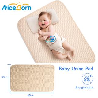 Thảm lót chống thấm 4 lớp di động NiceBorn giúp chống nước tiểu, mồ hôi, có thể gấp lại và giặt được dành cho trẻ sơ sinh trẻ mới biết đi thú cưng - INTL thumbnail