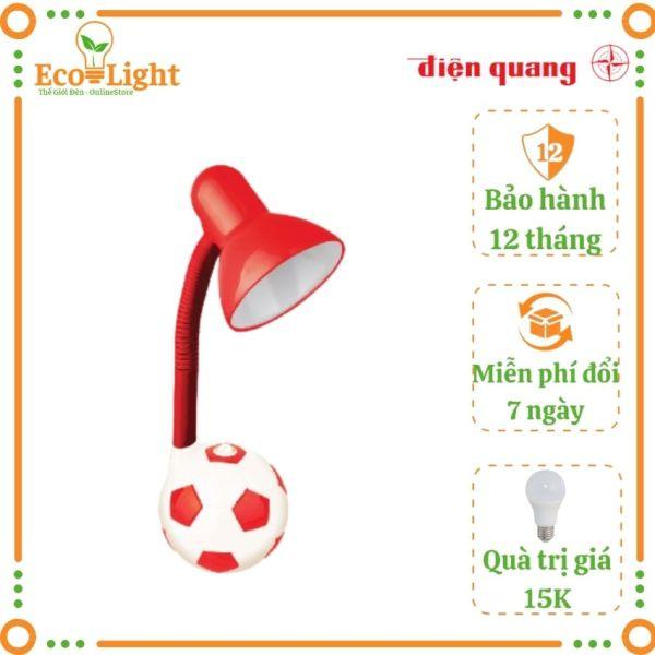 [BH 12 tháng + Quà 15K] Đèn bàn học Điện Quang Ecolight DKL01 bóng đèn led 4W ánh sáng vàng, bảo vệ mắt, chống cận thị kiểu quả bóng cho bé vừa học vừa chơi Tặng bóng led 3W