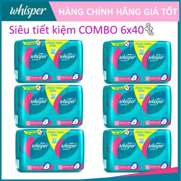 COMBO 6 gói Whisper Cánh dày ngày 40 miếng