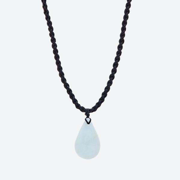 Mặt dây chuyền đá aquamarine giọt nước mệnh thủy,mộc (màu xanh lam) - Ngọc Quý Gemstones