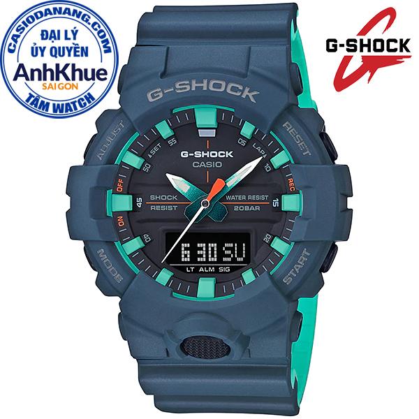Đồng hồ nam dây nhựa Casio G-Shock chính hãng Anh Khuê GA-800CC-2ADR (48mm)