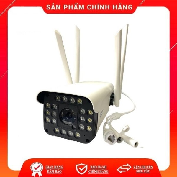 Camera ngoài trời chống nước kết nối wifi Yoosee 3.0M/2.0M Full HD 1080P 4 Led trợ sáng đàm thoại 2 chiều