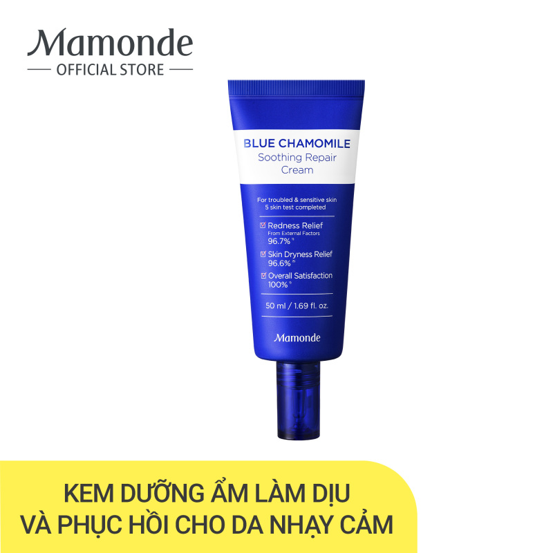 Kem Dưỡng Phục Hồi Và Làm Dịu Cho Da Nhạy Cảm Mamonde Blue Chamomile Soothing Repair Cream 50ml giá rẻ