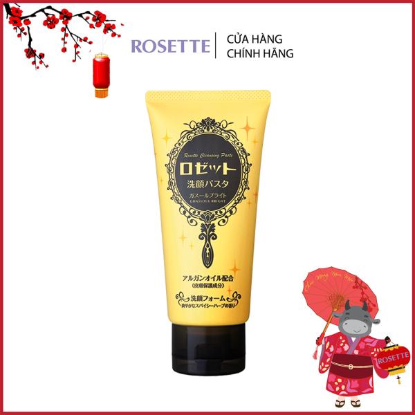 Sữa Rửa Mặt Làm Sáng Da Rosette Face Wash Pasta Ghassoul Bright 120g nhập khẩu