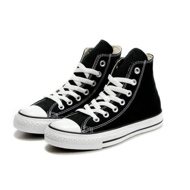 Giày Vải Sneaker Thể Thao CV Cổ Cao Đen Nam giá rẻ