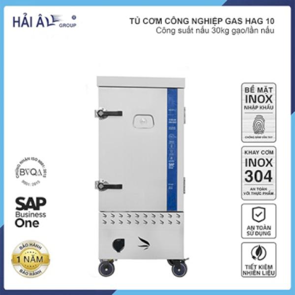 Tủ Cơm Công Nghiệp Hải Âu HAG 10 – Gas 10 Khay