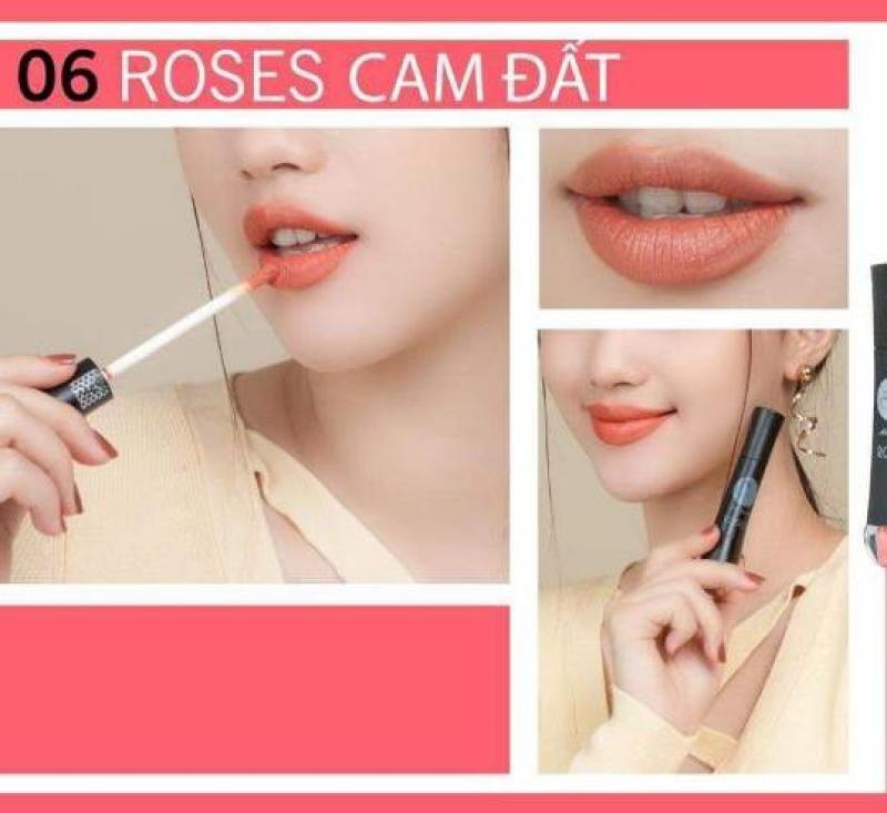 Son Roses CAM ĐẤT R06 + Tặng roses HỒNG CAM cao cấp