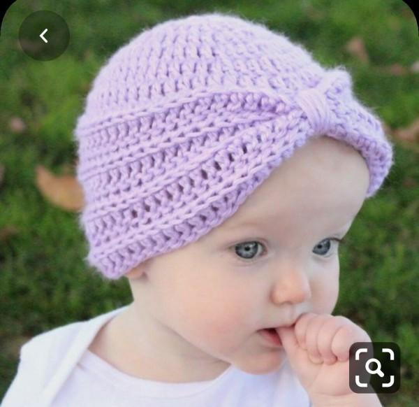 Giá bán Nón len cho bé gái  cho bé từ 3 tháng  đến 1 tuổi