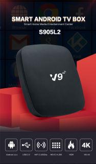 V9 TV box Android 10.0  TV box  thông minh Bluetooth 4.0 RAM 2G  WiFi 2.4/5.0