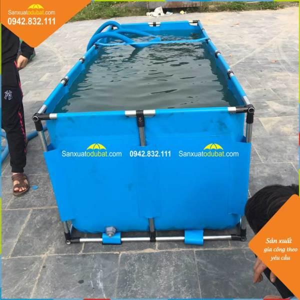 Bồn bạt nuôi cá KT 1.2x1.2x0.8m