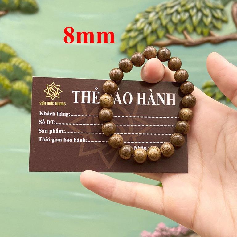 Vòng tay trầm hương phong thủy tròn đơn nam nữ Sơn Mộc Hương từ trầm tốc tự nhiên giúp mang lại may mắn, bình an và tài lộc cho người đeo