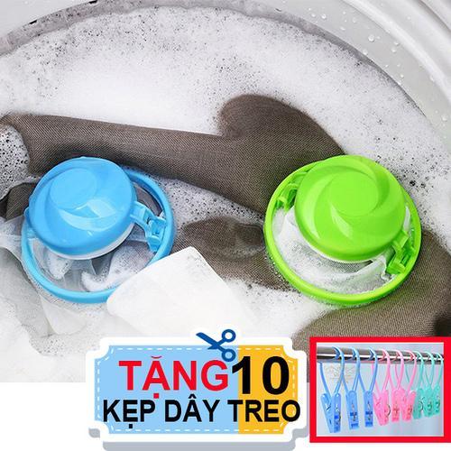 Combo 2 phao lọc rác bẩn máy giặt. Tặng 10 kẹp dây treo tiện dụng