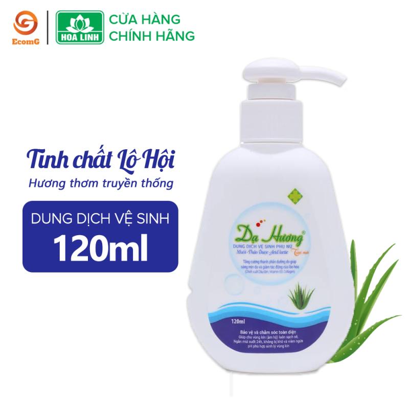 Dung dịch vệ sinh phụ nữ Dạ Hương lô hội dạng vòi 120ml - Dạ Hương Xanh (Lô Hội) giúp ngăn ngừa vi trùng gây viêm nhiễm, nấm ngứa-DH4-01 tốt nhất