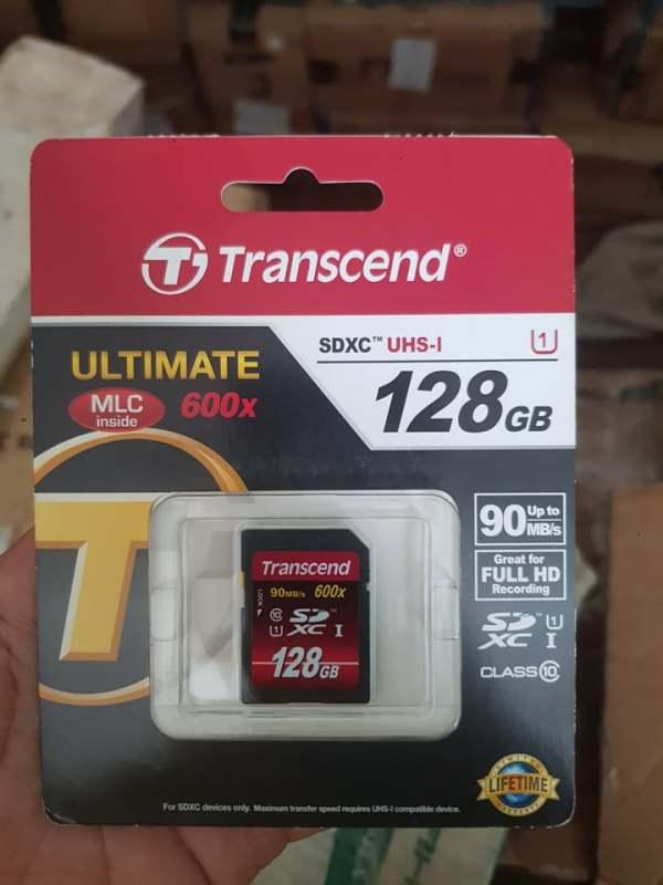 Thẻ nhớ máy ảnh SD 128 GB Transcend Class 10 600x