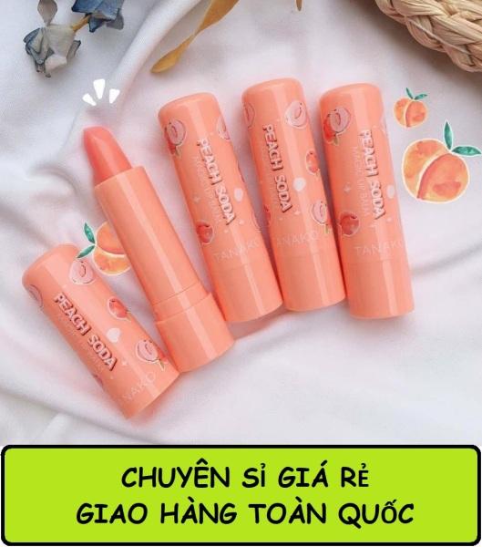 [Chuyên sỉ] Combo 5 Son dưỡng môi giữ ẩm môi và giúp môi căn mọng Tanako Peach Soda giá rẻ