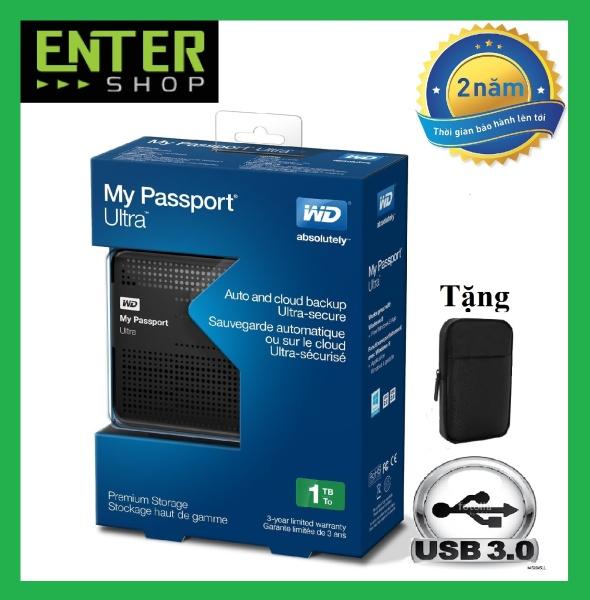 Bảng giá Ổ cứng di động WD My Passport Ultra 1TB Usb 3.0 Tặng túi chống sốc Phong Vũ