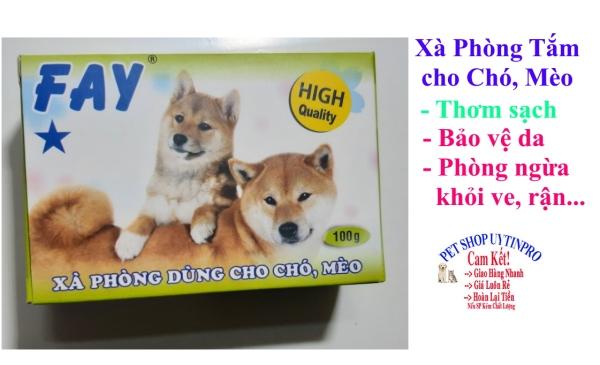 XÀ PHÒNG TẮM CHO THÚ CƯNG CHÓ MÈO Fay 1 Sao Thơm sạch Bảo vệ da khỏi ve rận ký sinh Sản xuất tại Việt nam