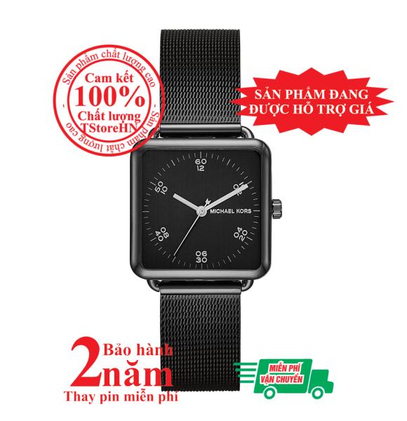 Đồng hồ nữ MK MK3562, vỏ, mặt và dây đồng hồ màu đen (Black), size 31mm x 31mm- MK3562