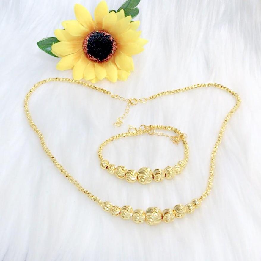 Bộ trang sức vàng 18k Migashop VB210071928 - dùng đi tiệc cực kì sang chảnh