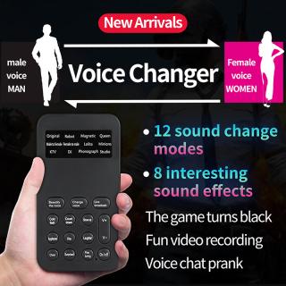 Bộ thay đổi giọng nói Micrô Mini Sound Card 12 Chế độ thay đổi âm thanh cho điện thoại di động và máy tính hỗ trợ Giọng nam thành giọng nữ Giọng nữ được thay đổi thành giọng nam Âm thanh em bé KTV âm thanh ma thuật thumbnail