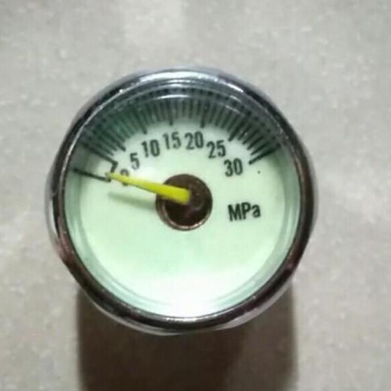 Đồng hồ đo áp suất 300 kí chân 8mm