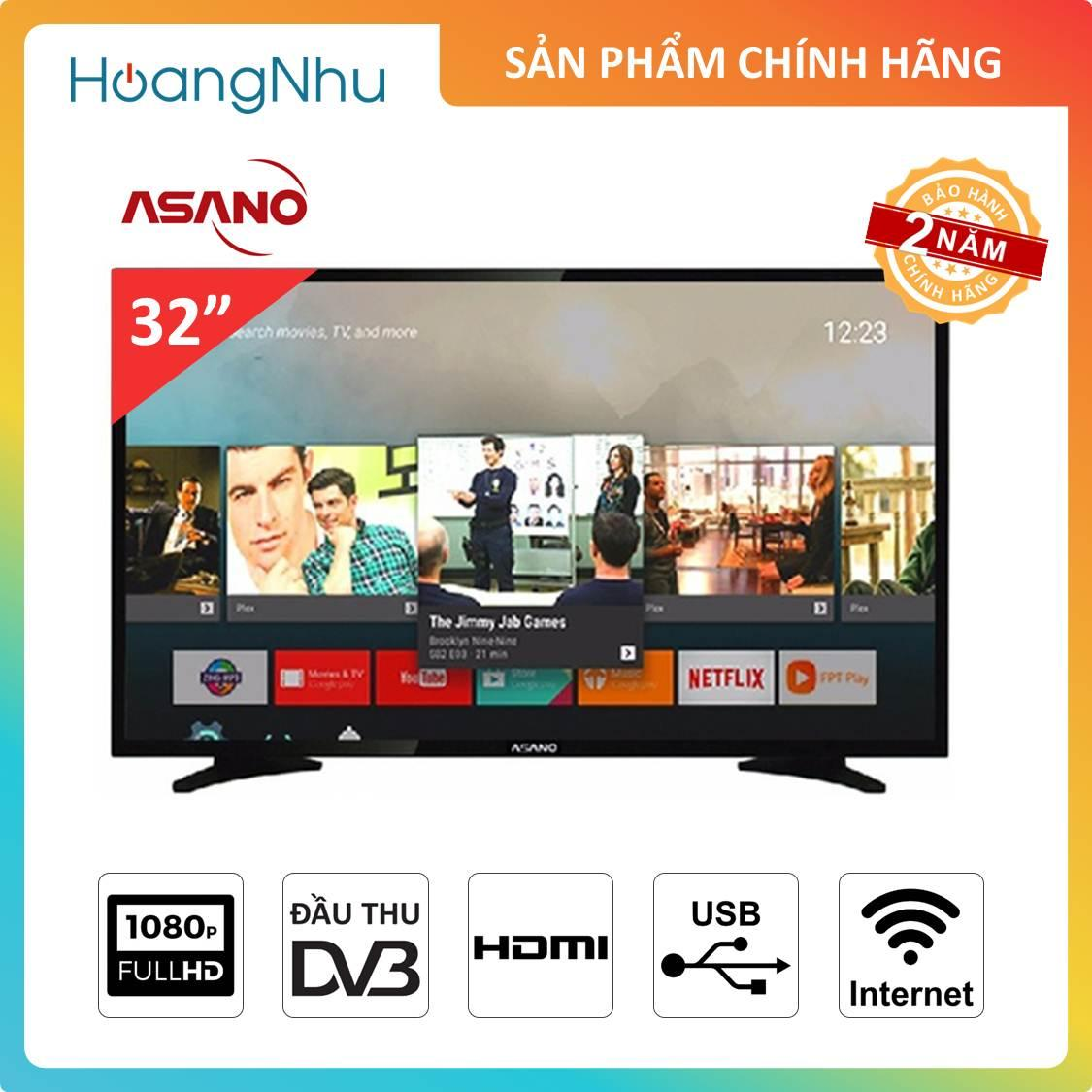 Bảng giá Smart Voice TV Asano 32 inch 32EK3 (Tivi thông minh, Wifi, Full HD, Điều khiển giọng nói, Tích hợp đầu thu KTS) - Bảo hành 2 năm