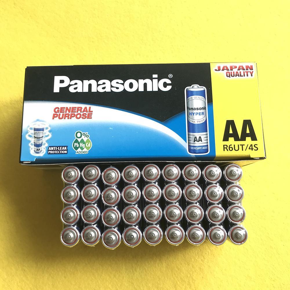 1 Hộp Pin AA Panasonic R6UT/4S, Pin Panasonic Xanh ( 60 Viên ) Đang Giảm Giá