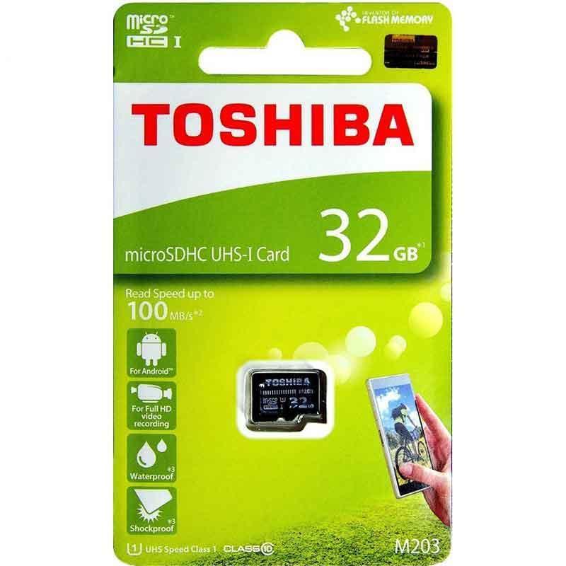 Thẻ Nhớ 32G MicroSD Toshiba M203 - Bảo Hành 24 Tháng _ Ảnh Thật
