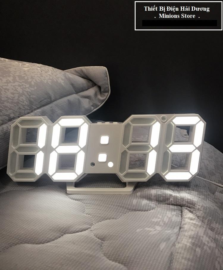 Deal Ưu Đãi Đồng Hồ Điện Tử 3D Để Bàn Hoặc Treo Tường - Báo Thức & Đo Nhiệt Độ - TN828