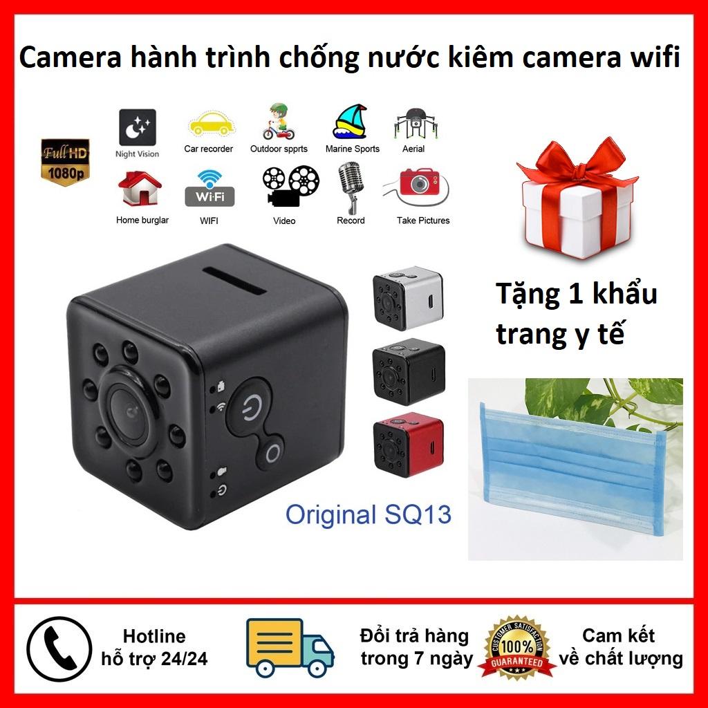 [Tặng kt ]Camera mini SQ13 HD Wifi-Camera Hành Trình Thể Thao SQ13 Chống Nước Hỗ Trợ Kết Nối Wifi 1080P-Có hồng ngoại quay ban đêm cải tiến hơn SQ11-SQ12-SQ16-A9 hành trình