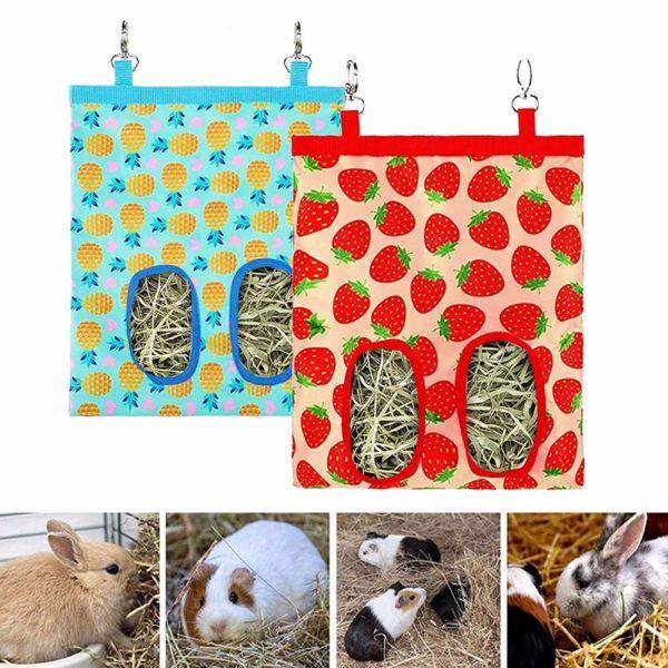 BEAN Bunny Phụ Kiện Cân Đồng Thú Cưng Chinchilla Phối Với Động Vật Thỏ Hay Feeder , Túi Nhựa Đức Ăn Máy Phân Phối Cho Ăn Túi Cỏ Khô Người Giữ Bao