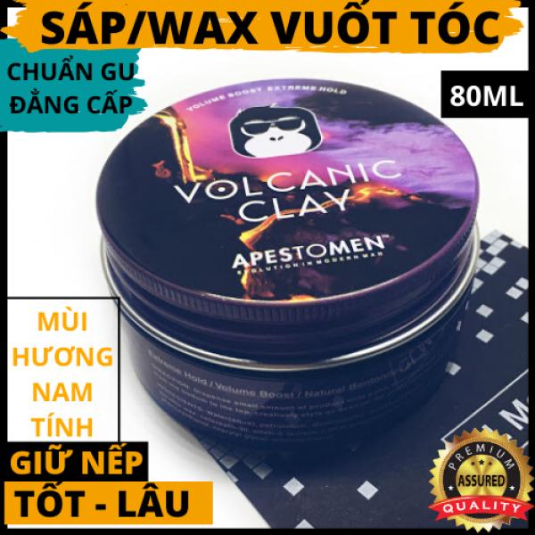 Sáp/Wax vuốt tóc nam VOLCANIC CLAY APESTOMEN hương thơm nam tính/ tạo nếp tóc - kiểu tóc theo sở thích - chuẩn gu mạnh mẽ đẳng cấp phái mạnh/80ml - Galvin Dinh nhập khẩu
